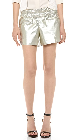Derek Lam 10 Crosby Metallic Boxer Shorts