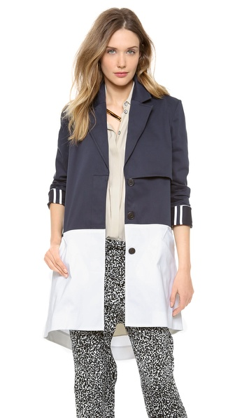 10 Crosby Derek Lam Cape Trench with Back Zip