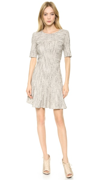 10 Crosby Derek Lam Half Sleeve Fit & Flare Dress