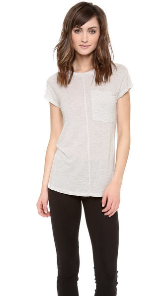 10 Crosby Derek Lam Short Sleeve Pocket Tee