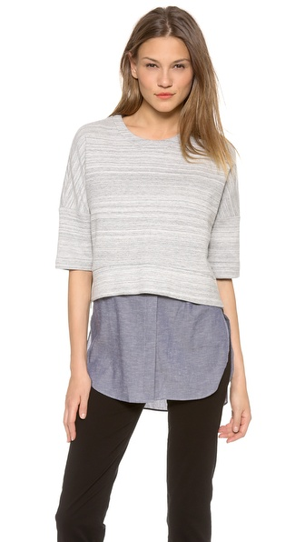 10 Crosby Derek Lam 2 in 1 Combo Sweater Tunic