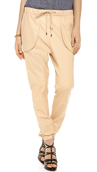 Derek Lam 10 Crosby Leather Track Pants