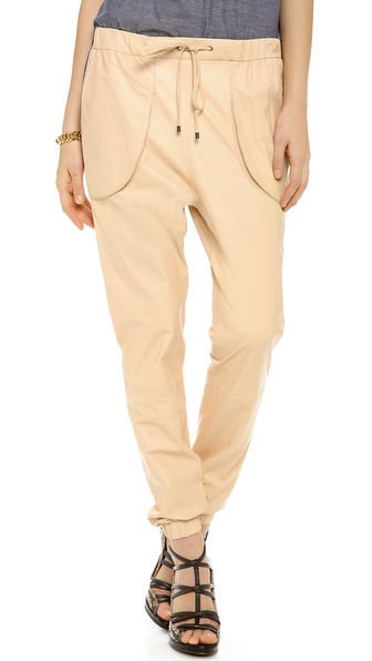 10 Crosby Derek Lam Leather Track Pants