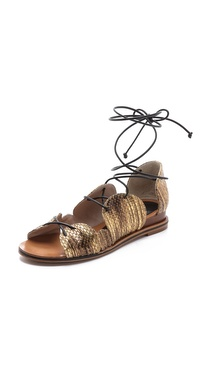 10 Crosby Derek Lam Penny Lace Up Sandals