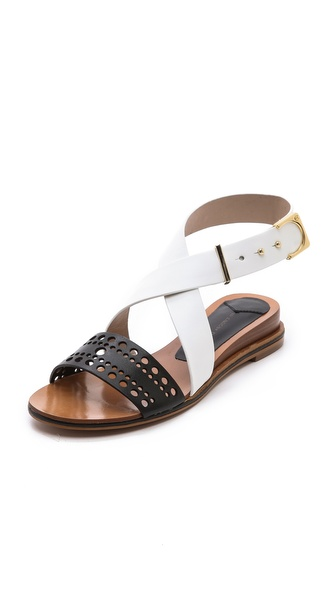 10 Crosby Derek Lam Pilar Demi Wedge Sandals