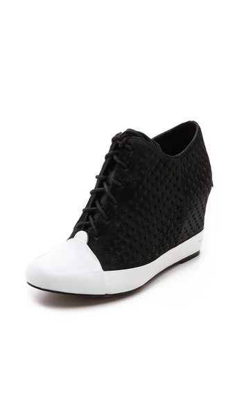 10 Crosby Derek Lam Meryl Perforated Wedge Sneakers