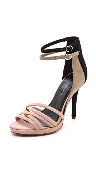 Derek Lam 10 Crosby Jules Colorblock Ankle Strap Sandals