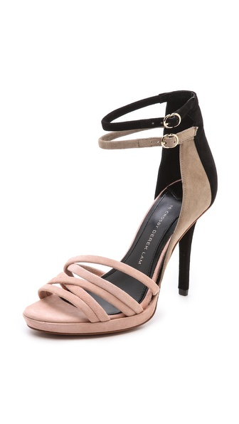 10 Crosby Derek Lam Jules Colorblock Ankle Strap Sandals