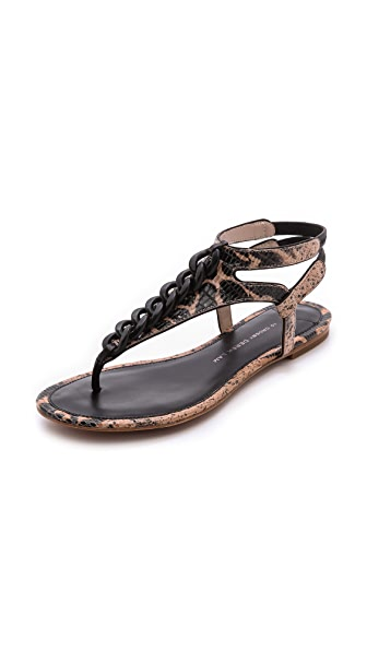 Derek Lam 10 Crosby Damast Chain Link Flat Sandals