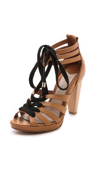 10 Crosby Derek Lam Jasmin Strappy Lace Up Sandals