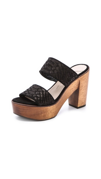 10 Crosby Derek Lam Luanda Too Banded Mules - Black at Shopbop / East Dane