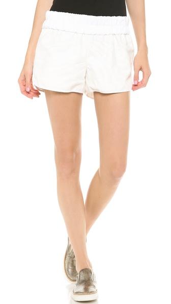 10 Crosby Derek Lam Elastic Waist Zebra Shorts