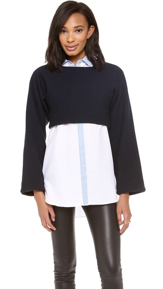 10 Crosby Derek Lam Long Sleeve Crop Top
