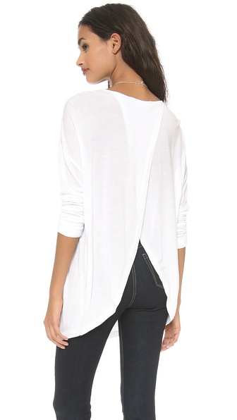 10 Crosby Derek Lam Long Sleeve Tee with Crossover Back