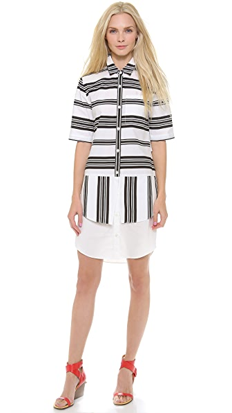 Derek Lam 10 Crosby Striped Shirtdress