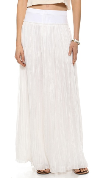 10 Crosby Derek Lam Pleated Maxi Skirt