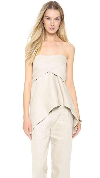 Derek Lam 10 Crosby Strapless Tunic Top