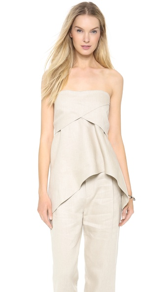 10 Crosby Derek Lam Strapless Tunic Top