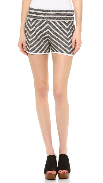 10 Crosby Derek Lam Elastic Waist Striped Shorts