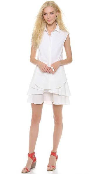 10 Crosby Derek Lam Shirtdress with Ruffle