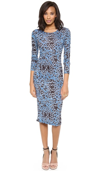 10 Crosby Derek Lam Long Sleeve Leopard Dress