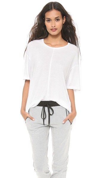 10 Crosby Derek Lam Boxy Center Seam Tee