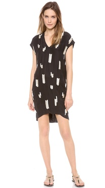 10 Crosby Derek Lam Chevron Embellished Dress