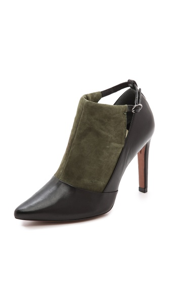 10 Crosby Derek Lam Casia Two Tone Cutout Booties