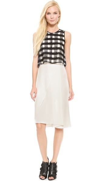 10 Crosby Derek Lam Plaid Layered Dress