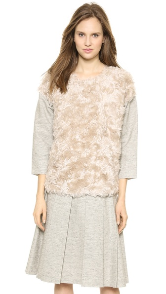10 Crosby Derek Lam Shirt with Faux Fur