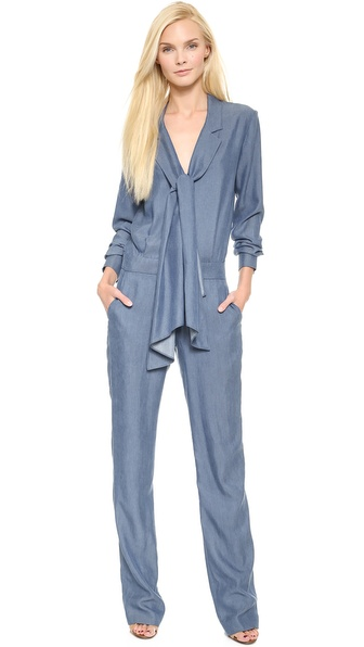 10 Crosby Derek Lam Jumpsuit with Scarf Tie