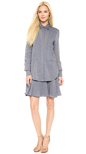 Derek Lam 10 Crosby Two Pocket Shirtdress