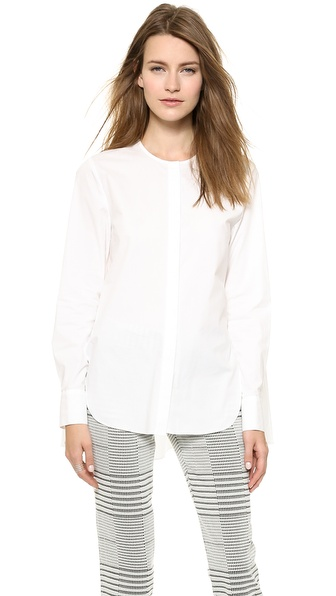 10 Crosby Derek Lam Henley Top with Draped Back
