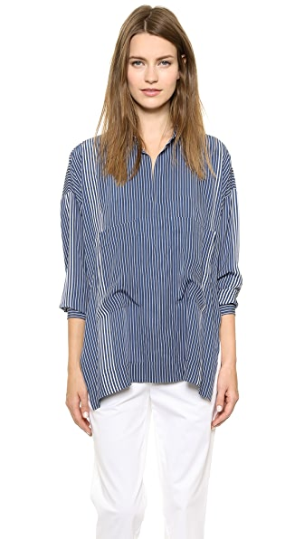 Derek Lam 10 Crosby Oversized Two Pocket Top