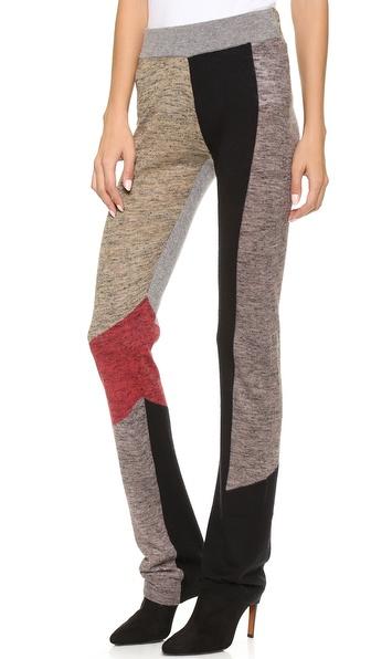 Derek Lam 10 Crosby Straight Leg Patchwork Pants