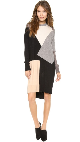 10 Crosby Derek Lam Tunic Patchwork Sweater Dress