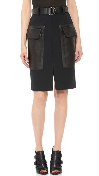 10 Crosby Derek Lam Belted Patch Pocket Skirt