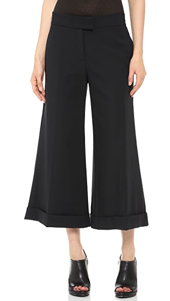 Derek Lam 10 Crosby Cuffed Wide Leg Crop Trousers