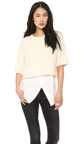 10 Crosby Derek Lam 2 in 1 Combo Top