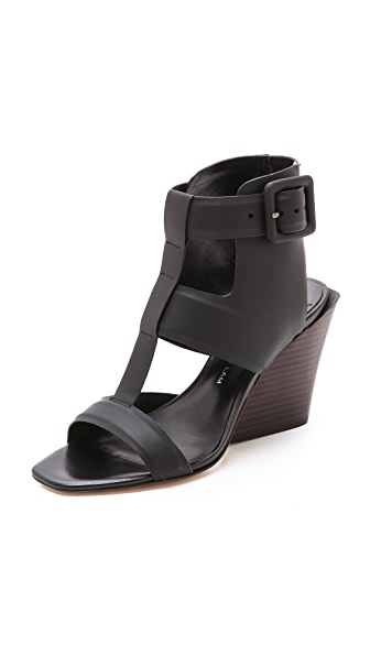 Campbell Campbell Campbell Wedge Sandals (Black)