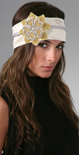 Cynthia Dugan Jewelry Stretch Headband with Swarovski Flower