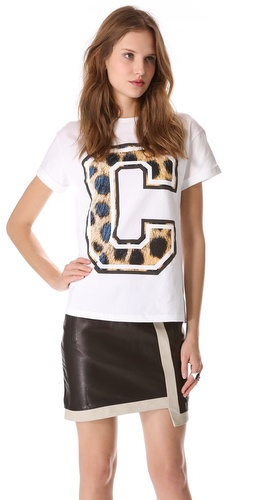 Cecile Big C Cheetah Tee
