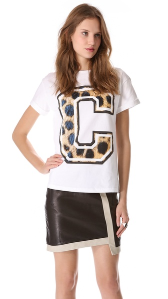 Etre Cecile Big C Cheetah Tee
