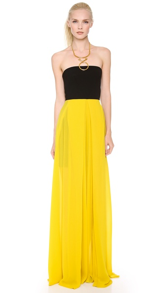 Cedric Charlier Strapless Gown