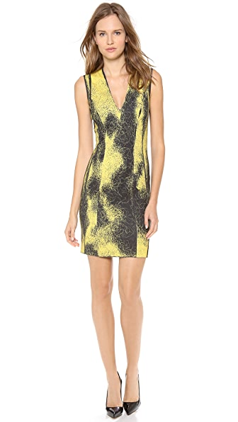 Cedric Charlier Sleeveless Printed Dress