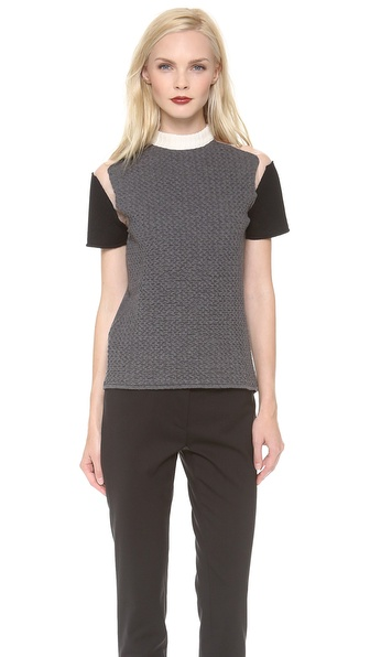 Cedric Charlier Short Sleeve Top