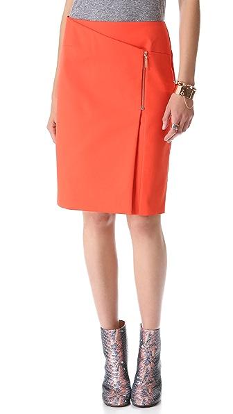 Cedric Charlier Zip Wrap Skirt