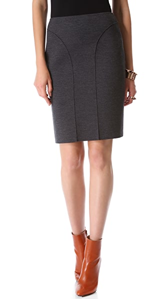 Cedric Charlier Seamed Pencil Skirt