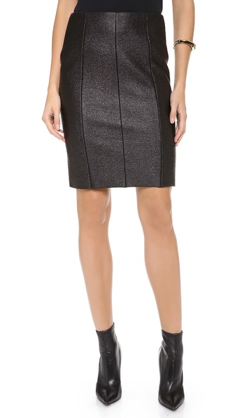 Cedric Charlier Wool Pencil Skirt