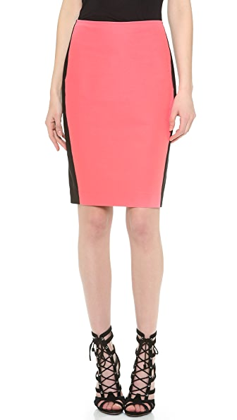 Cedric Charlier Cotton Pencil Skirt